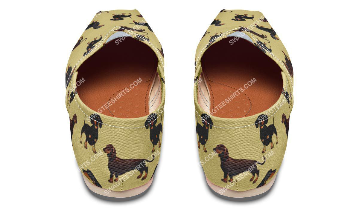 the dachshund dog lovers all over printed toms shoes 3(1)
