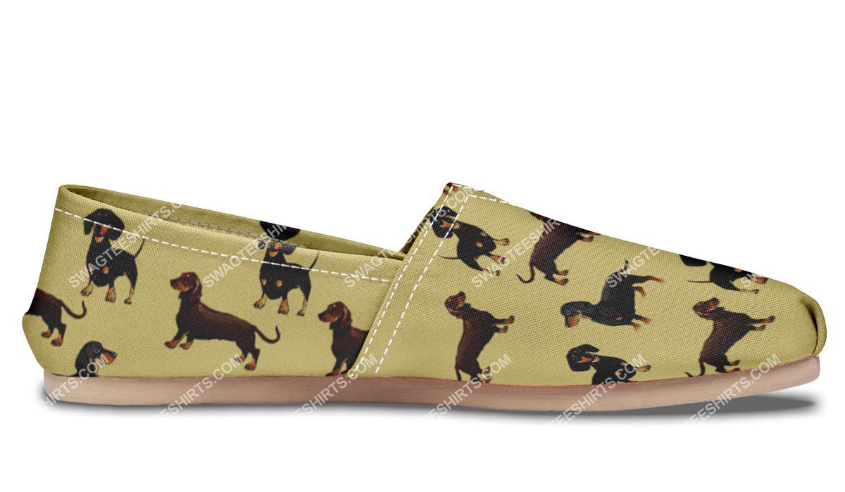 the dachshund dog lovers all over printed toms shoes 4(1)