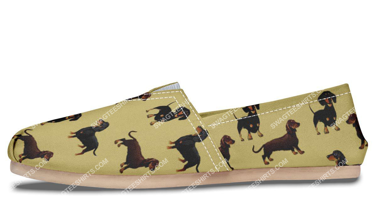 the dachshund dog lovers all over printed toms shoes 5(1)