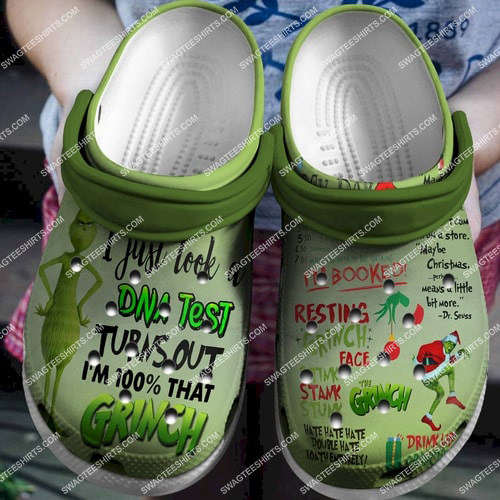 the grinch i just tool a dna test all over printed crocs 2