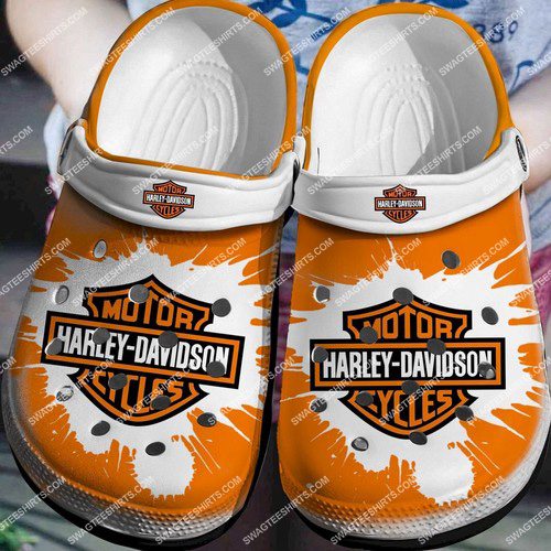 the harley davidson motorcycles all over printed crocs 2 - Copy