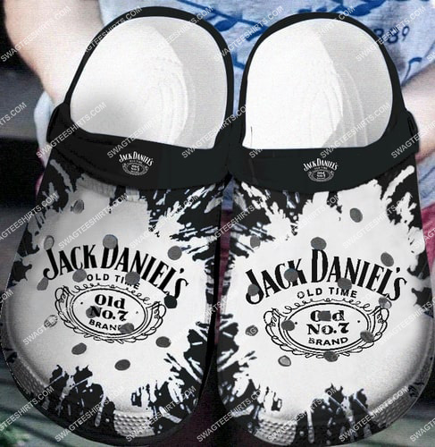 the jack daniels old time all over printed crocs 2