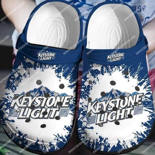 the keystone light all over printed crocs 2