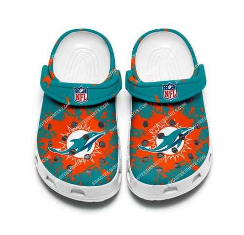the miami dolphins all over printed crocs 2