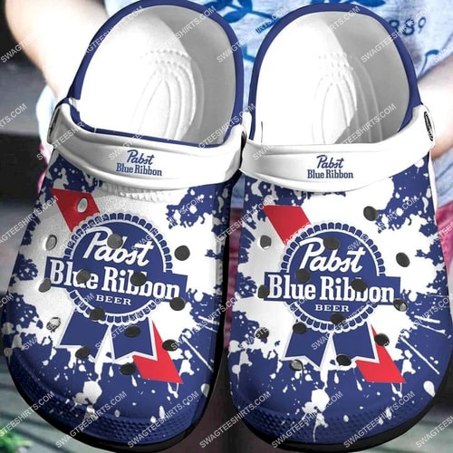 the pabst blue ribbon all over printed crocs 2