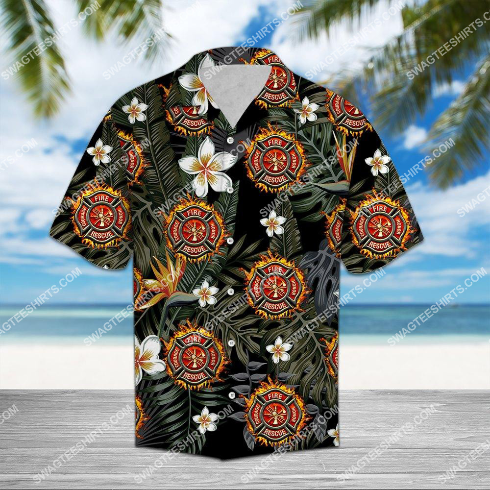 the tropical firefighter all over printed hawaiian shirt 1(1)