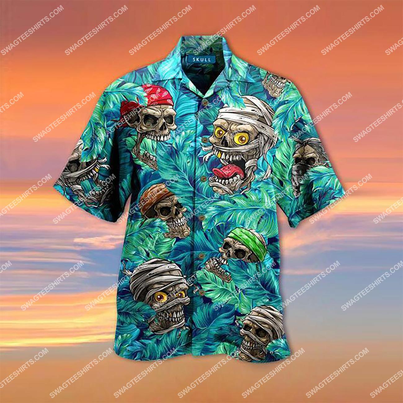 the tropical skull all over printed hawaiian shirt 1(1)