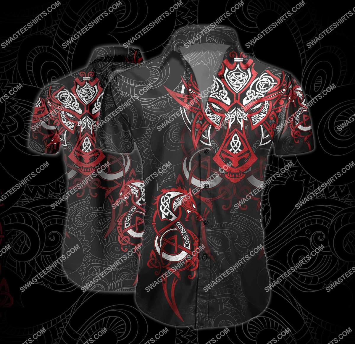 the viking symbols all over printed hawaiian shirt 2(1)