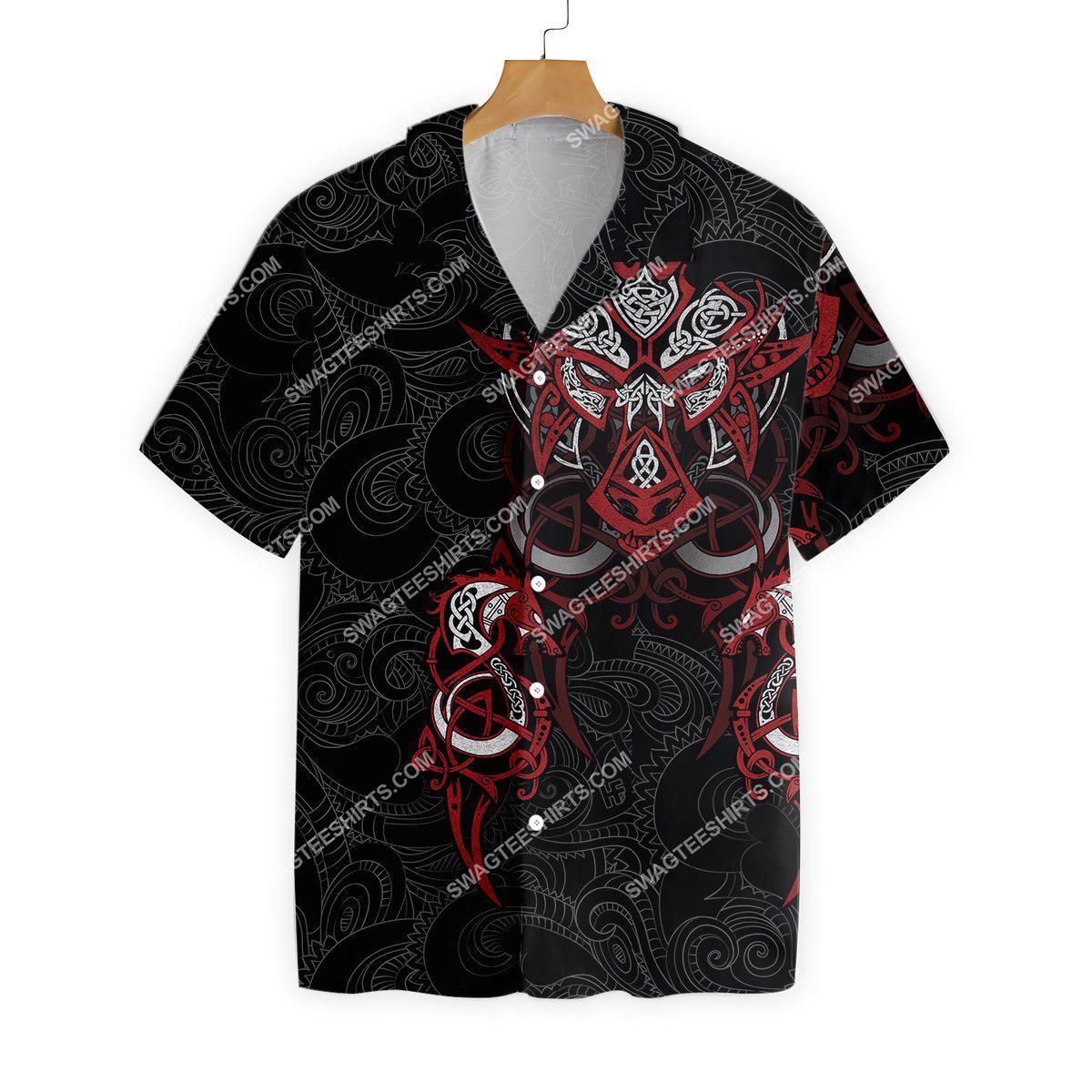 the viking symbols all over printed hawaiian shirt 3(1)