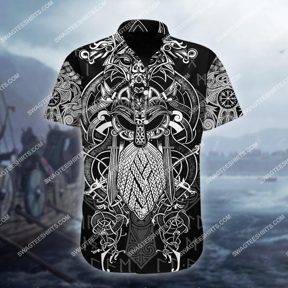 the viking warrior odin all over printed hawaiian shirt 1(1) - Copy
