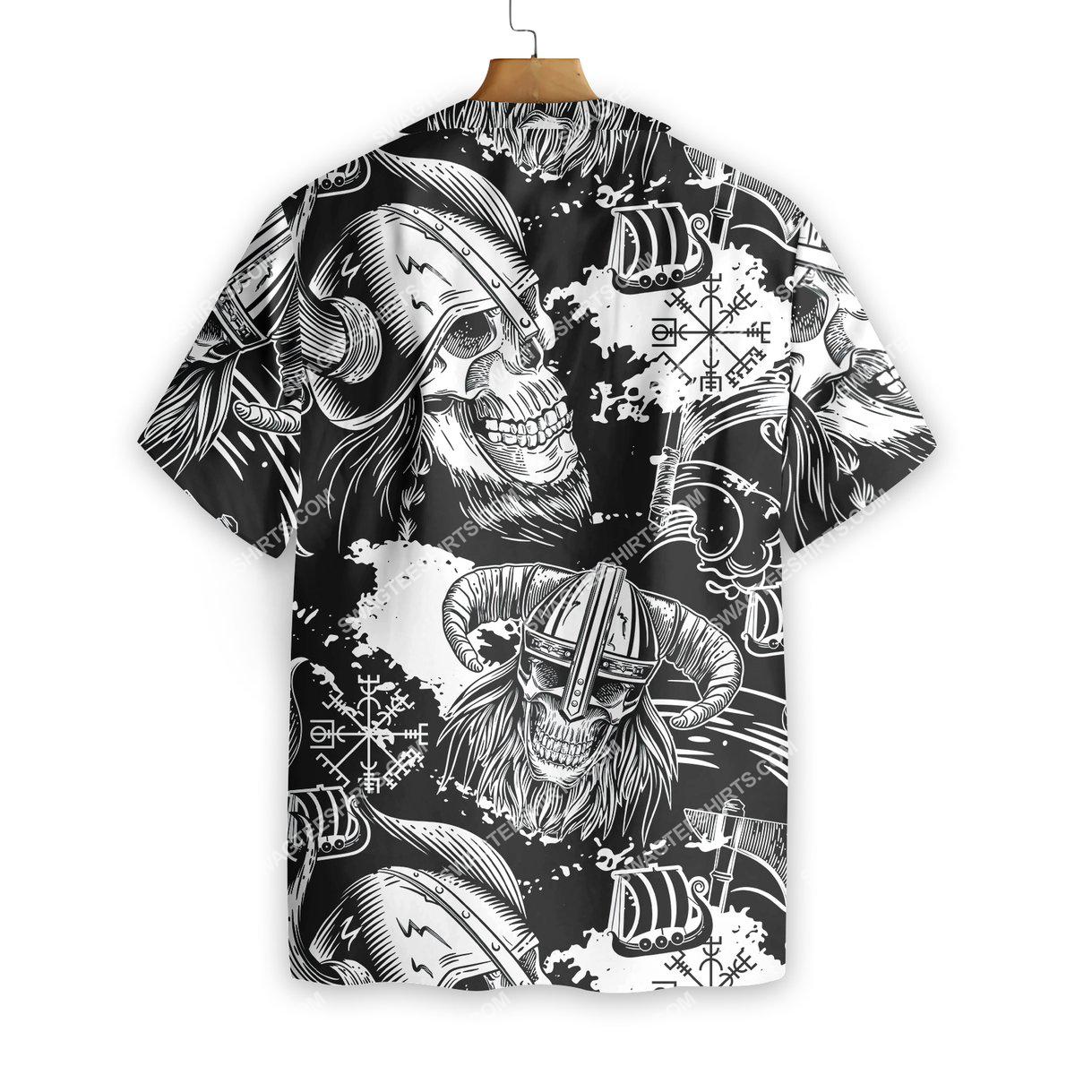 the viking warrior skull all over printed hawaiian shirt 3(1)