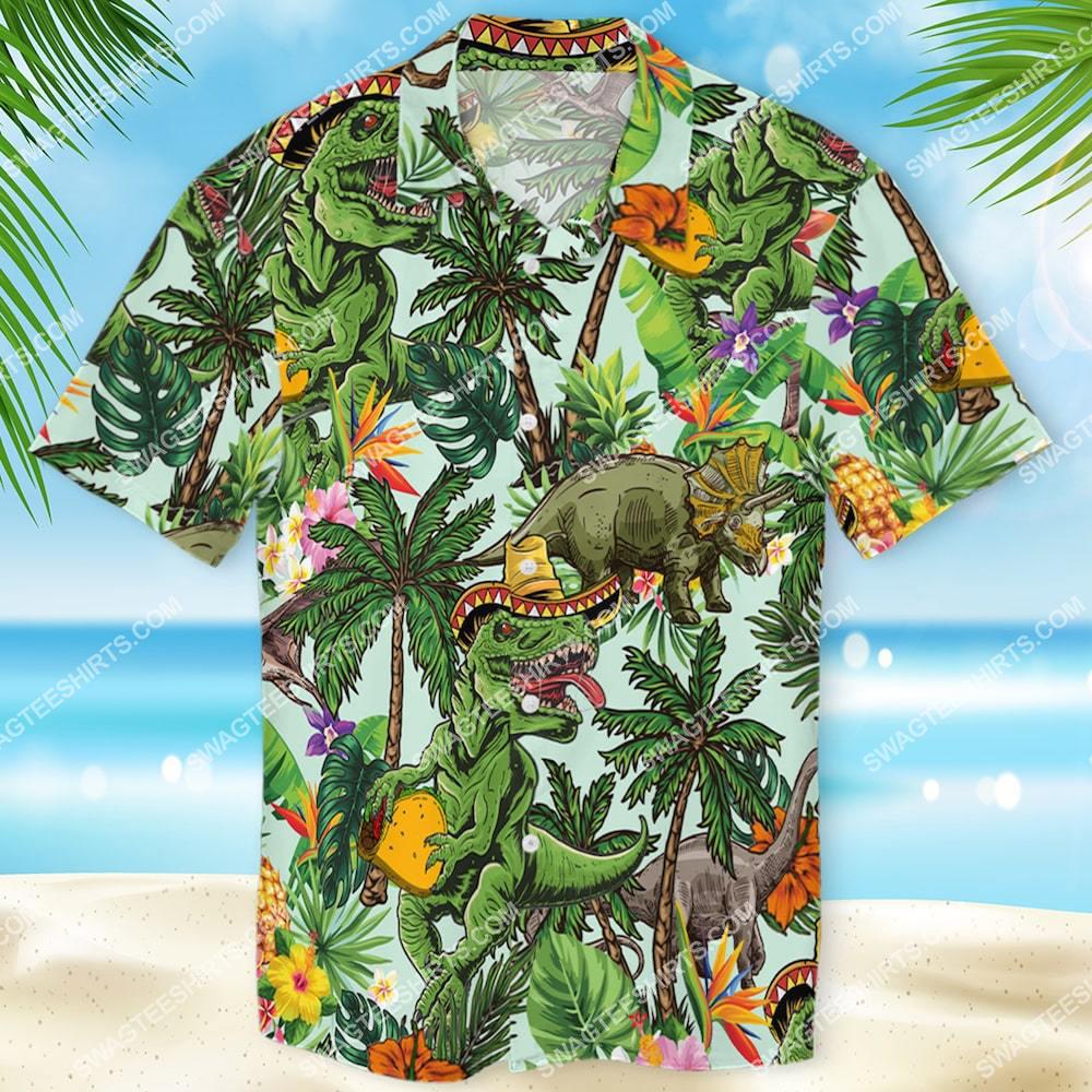 tropical dinosaur lover all over printed hawaiian shirt 1(1)