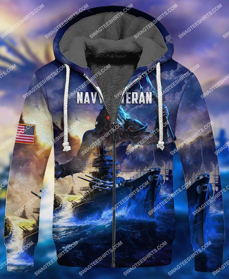united states navy veteran battleship full print fleece hoodie 1