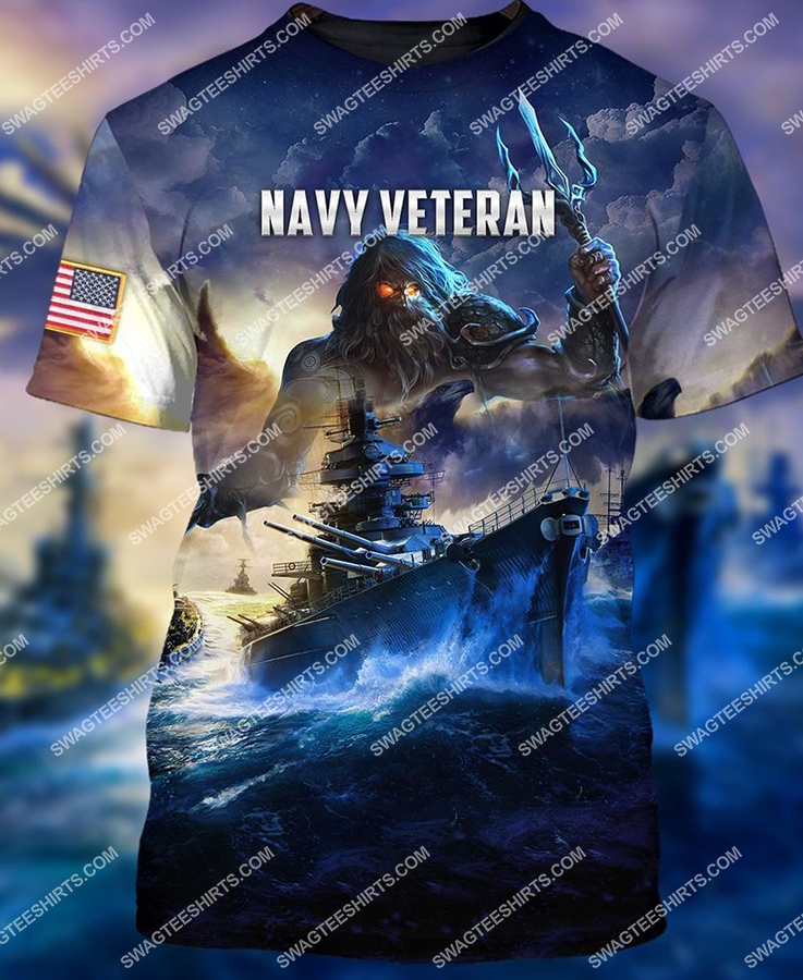 united states navy veteran battleship full print tshirt 1