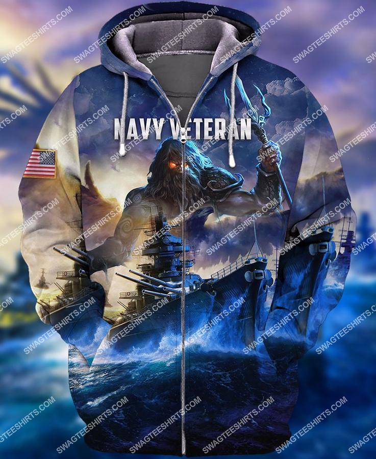 united states navy veteran battleship full print zip hoodie 1