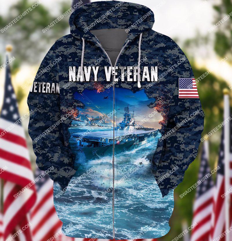 united states navy veteran battleship ocean full print zip hoodie 1