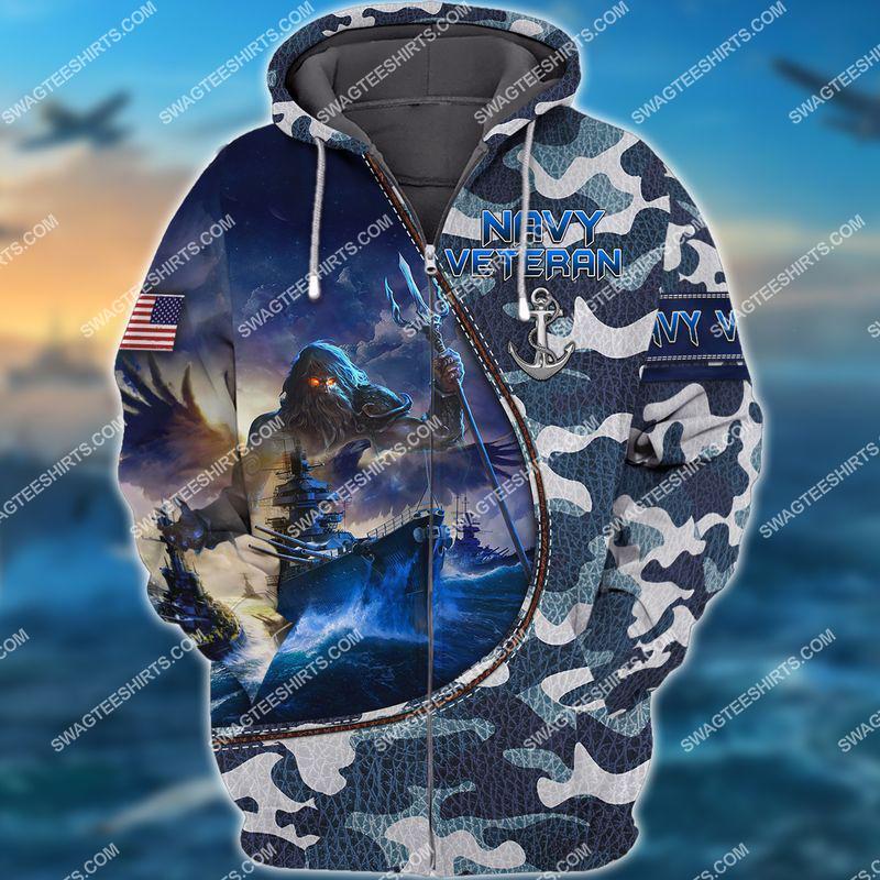 united states navy veteran camo full print zip hoodie 1