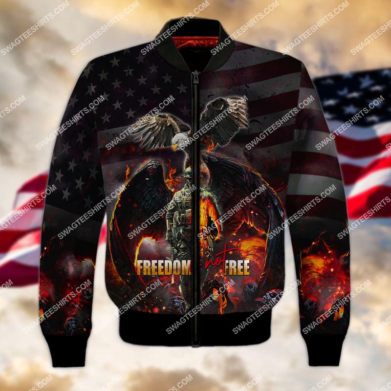 veterans day freedom is not free full print bomber 1