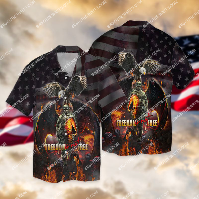 veterans day freedom is not free full print hawaiian shirt 1