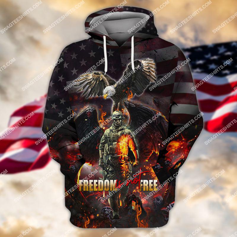 veterans day freedom is not free full print hoodie 1