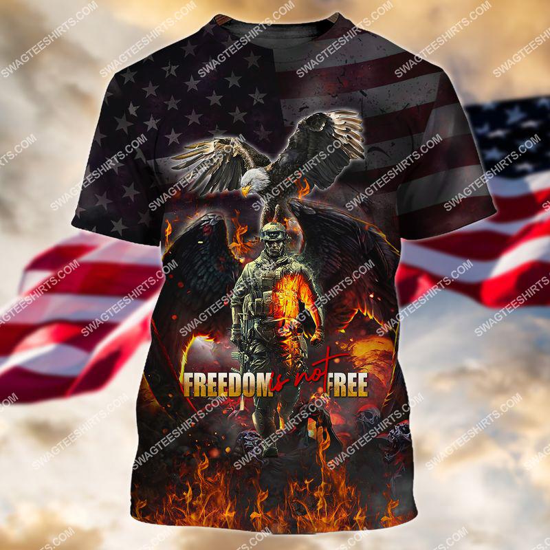 veterans day freedom is not free full print tshirt 1