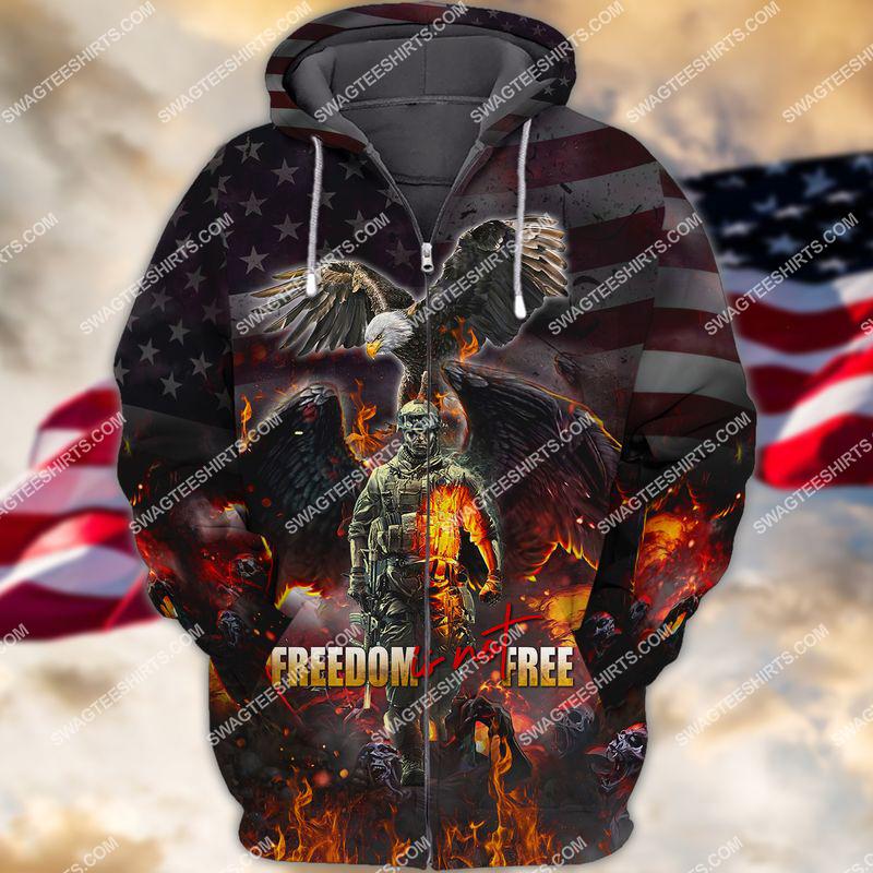 veterans day freedom is not free full print zip hoodie 1