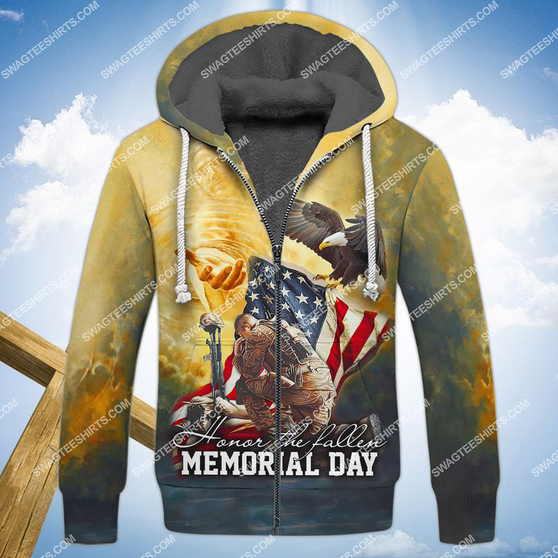 veterans day we don't know them all but we owe them all full print fleece hoodie 1