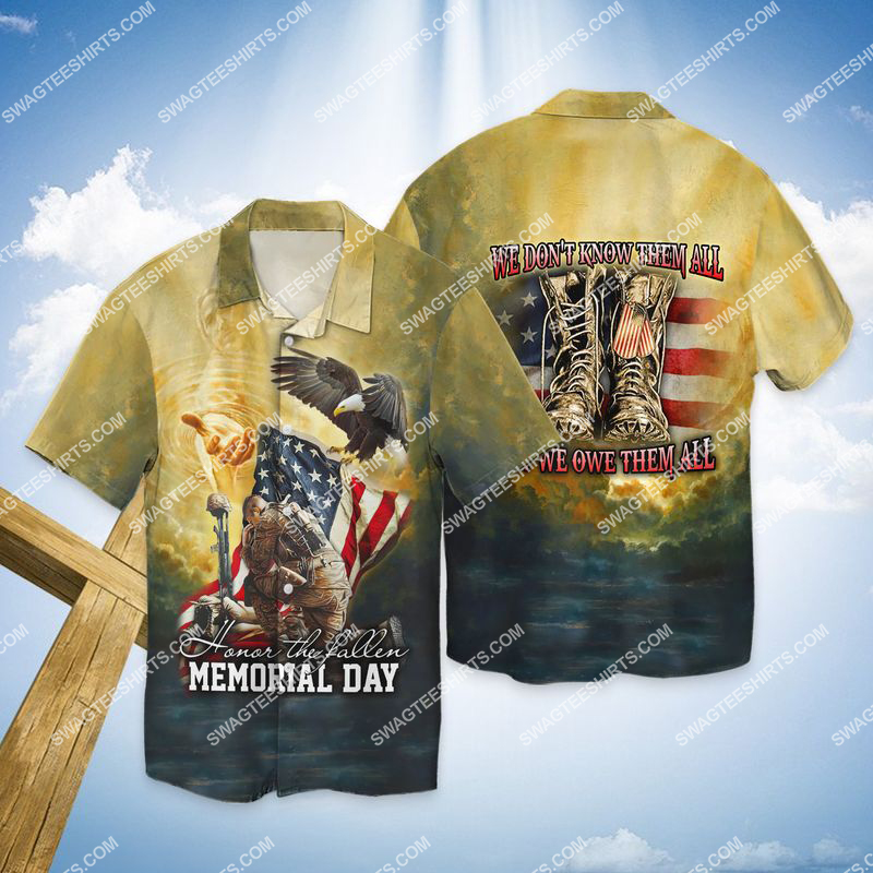 veterans day we don't know them all but we owe them all full print hawaiian shirt 1