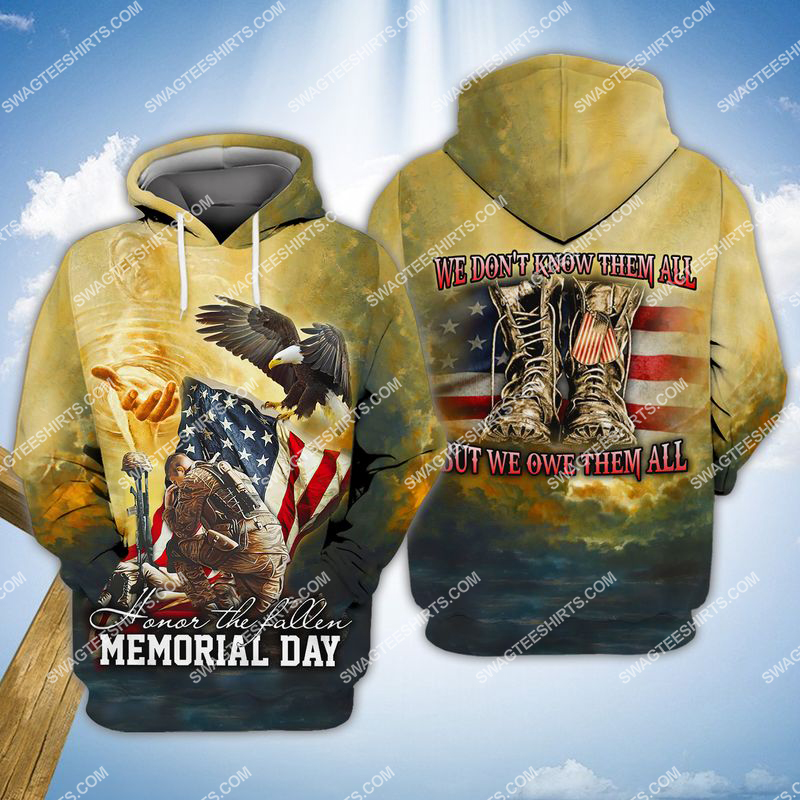 veterans day we don't know them all but we owe them all full print hoodie 1