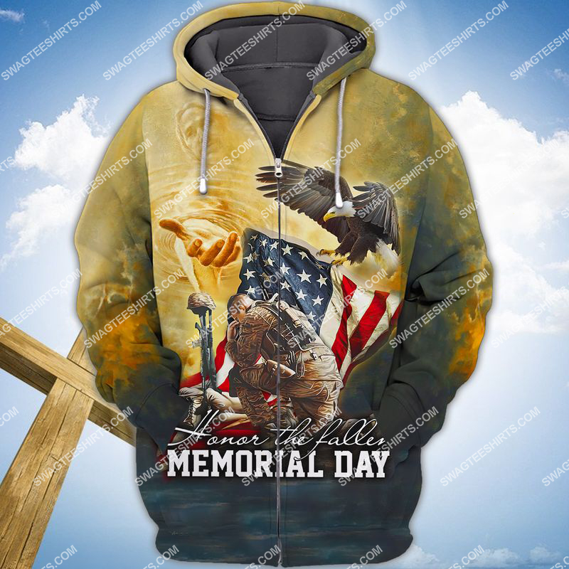 veterans day we don't know them all but we owe them all full print zip hoodie 1