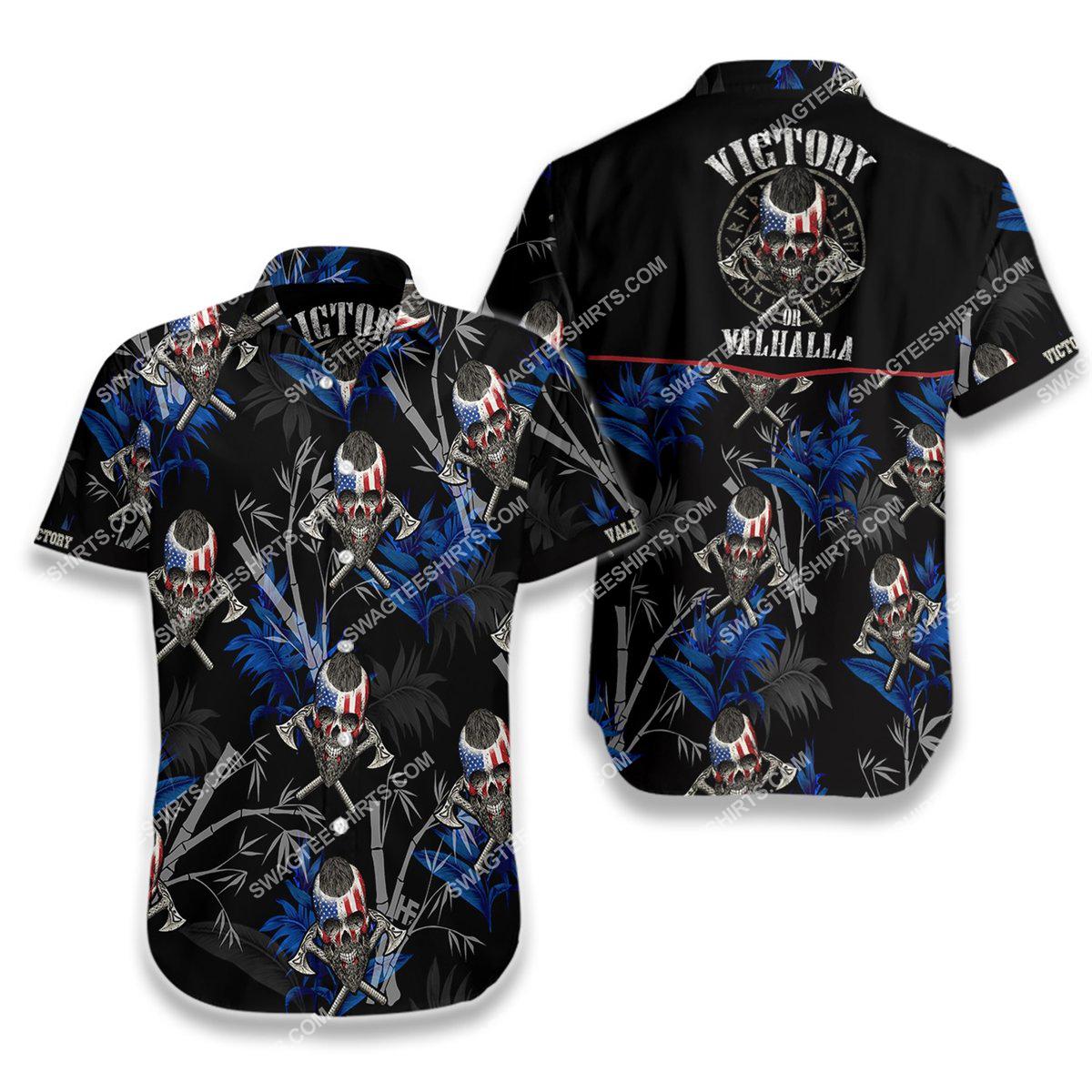 victory or valhalla viking all over printed hawaiian shirt 1(1) - Copy