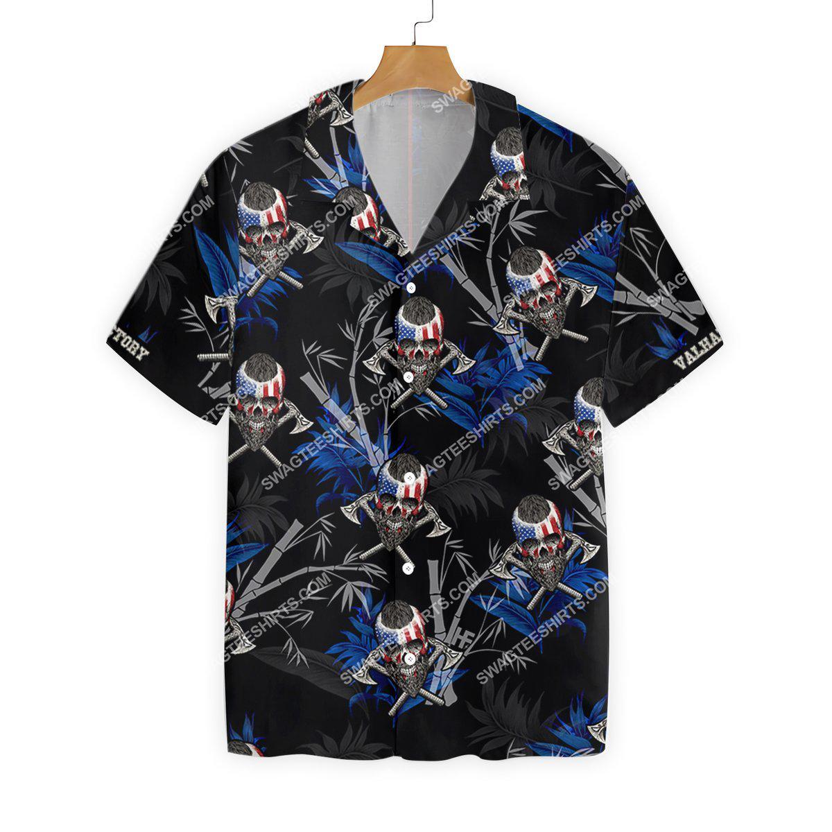victory or valhalla viking all over printed hawaiian shirt 2(1)