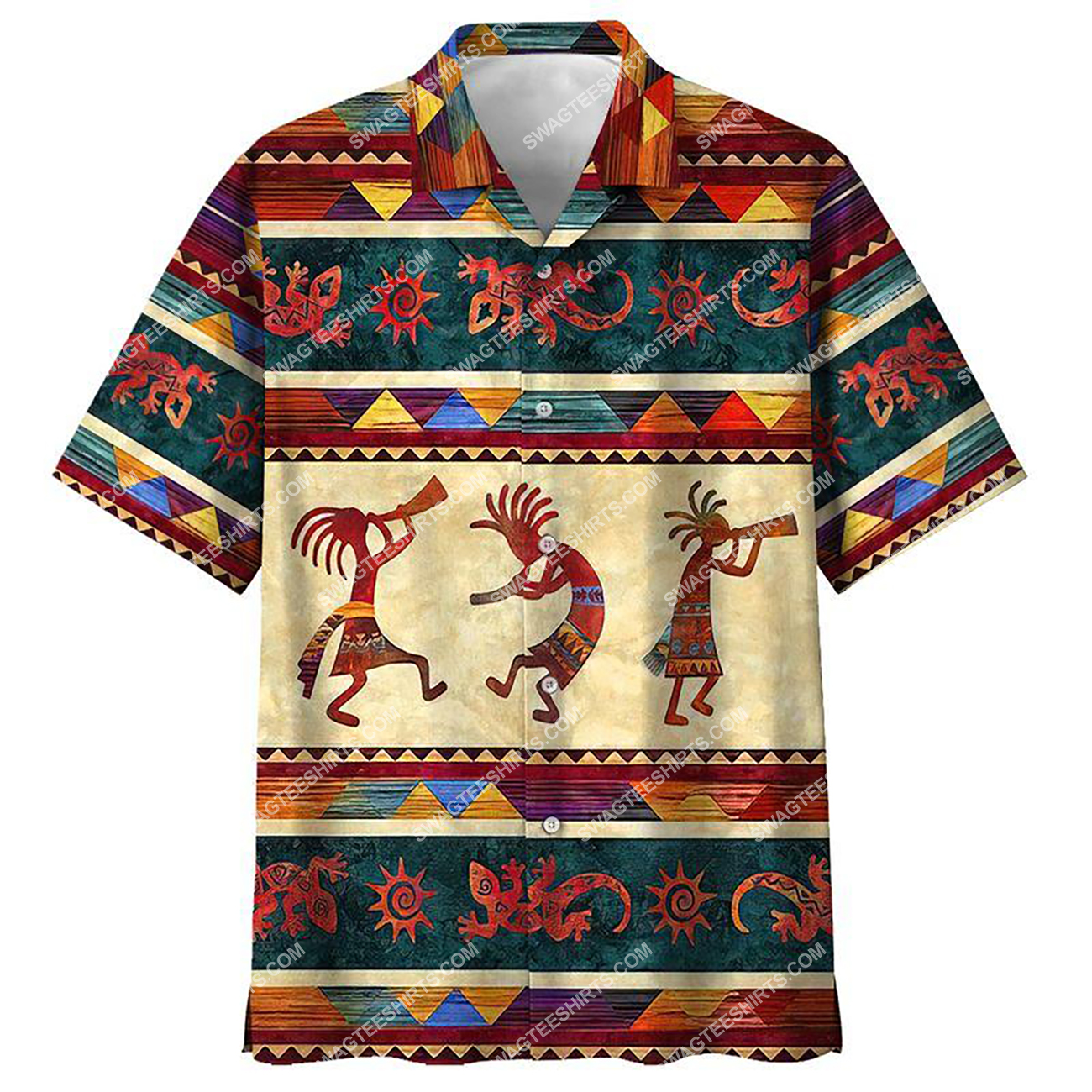 vintage native american culture all over printed hawaiian shirt 1(1)