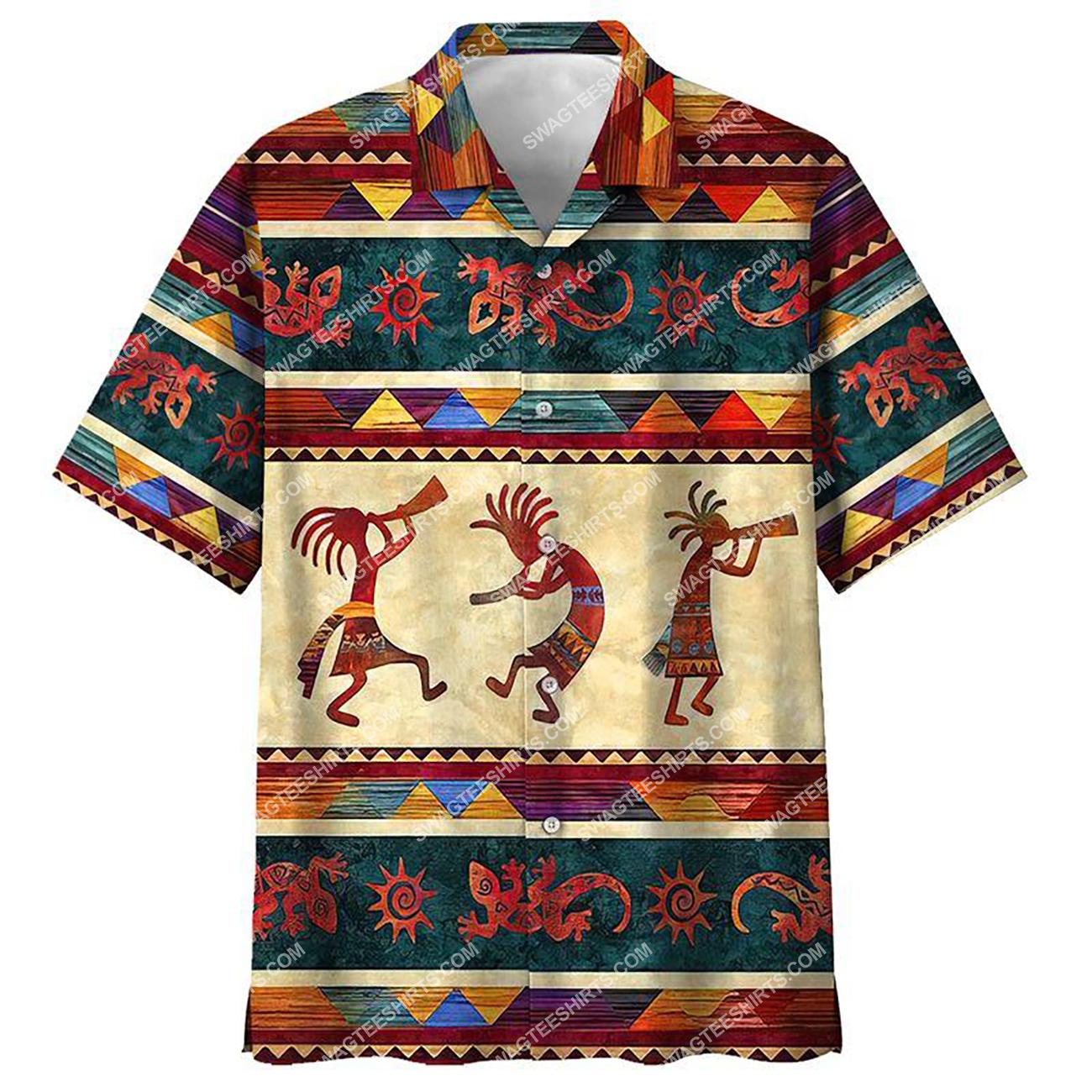 vintage native american culture all over printed hawaiian shirt 1(2) - Copy