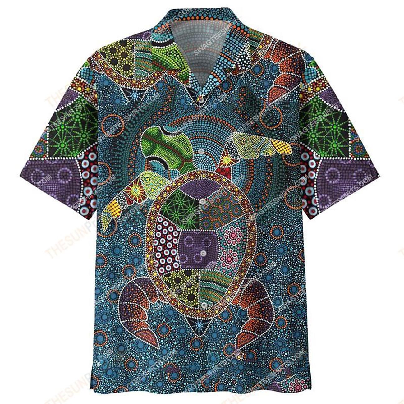 vintage sea turtle all over printed hawaiian shirt 1(1)