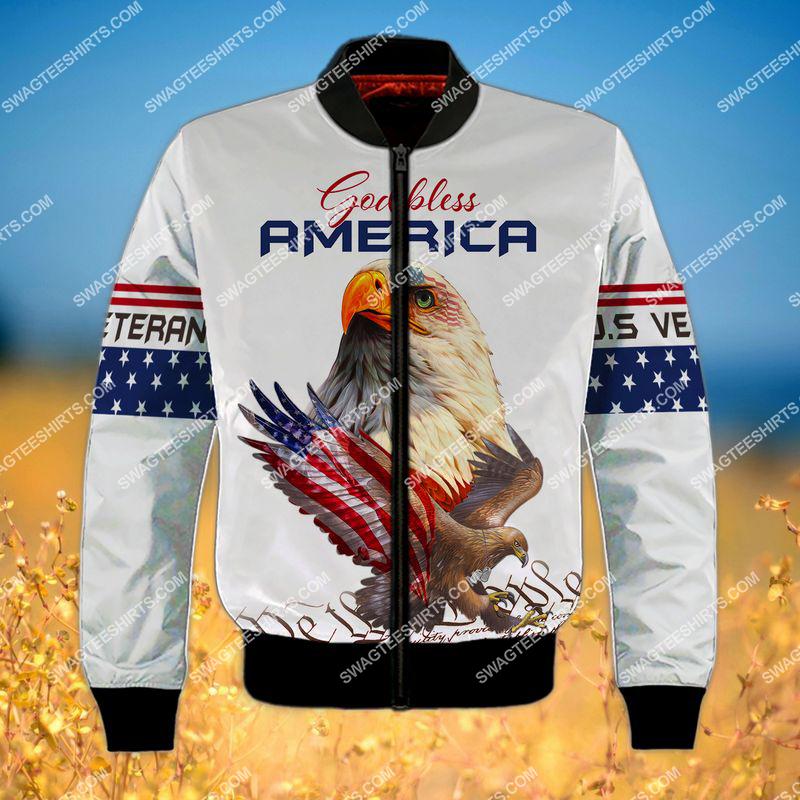 we the people God bless america full print bomber 1