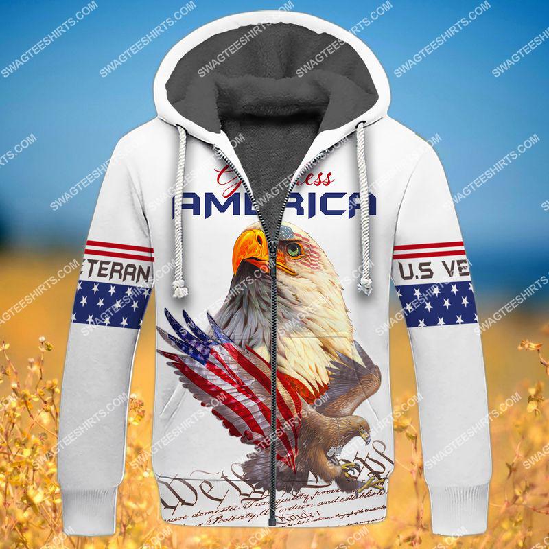 we the people God bless america full print fleece hoodie 1
