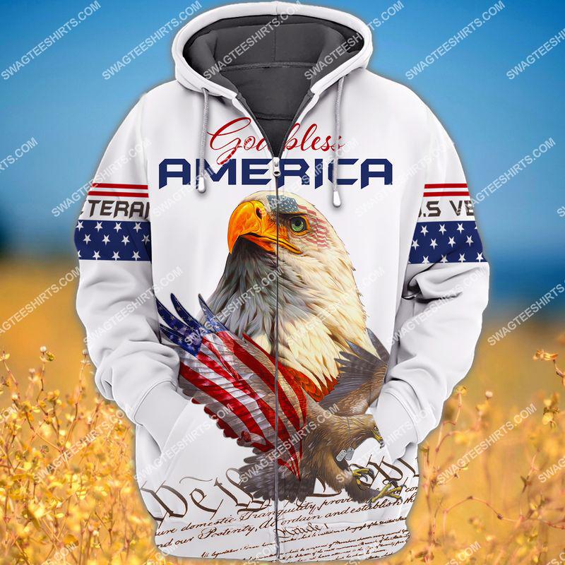 we the people God bless america full print zip hoodie 1