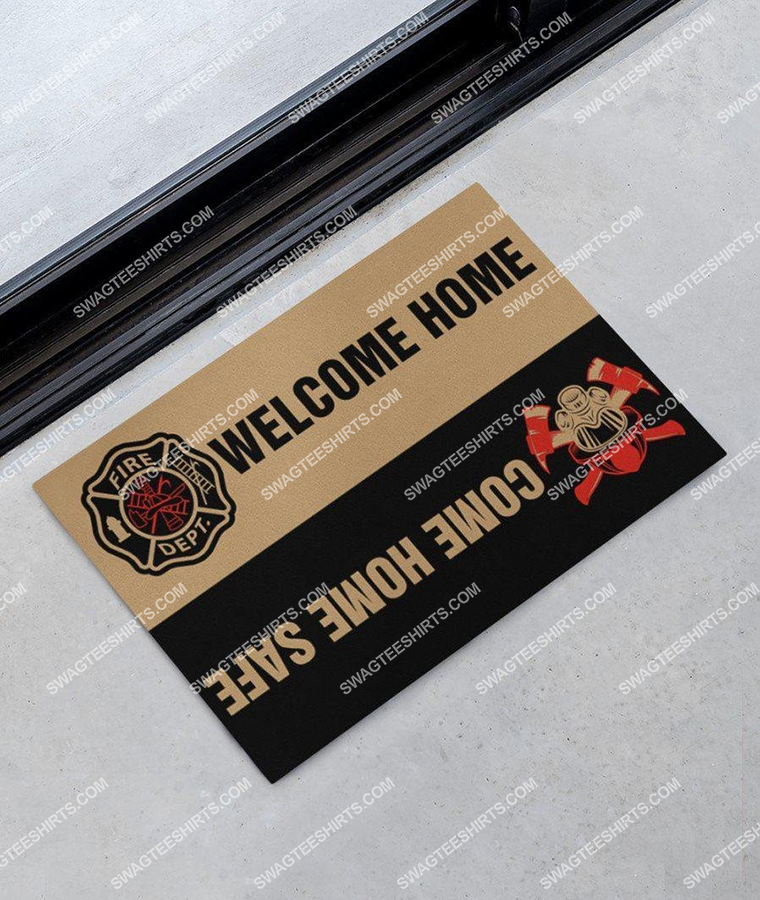 welcome home come home safe firefighter full print doormat 2(1)