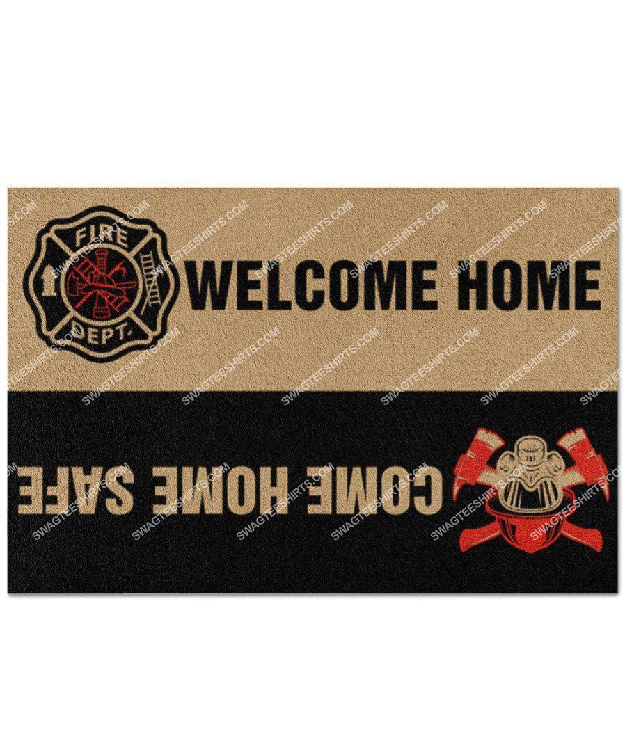 welcome home come home safe firefighter full print doormat 3(1)