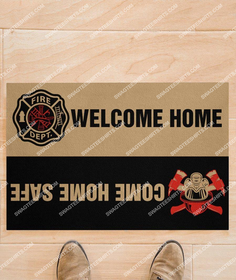 welcome home come home safe firefighter full print doormat 4(1)