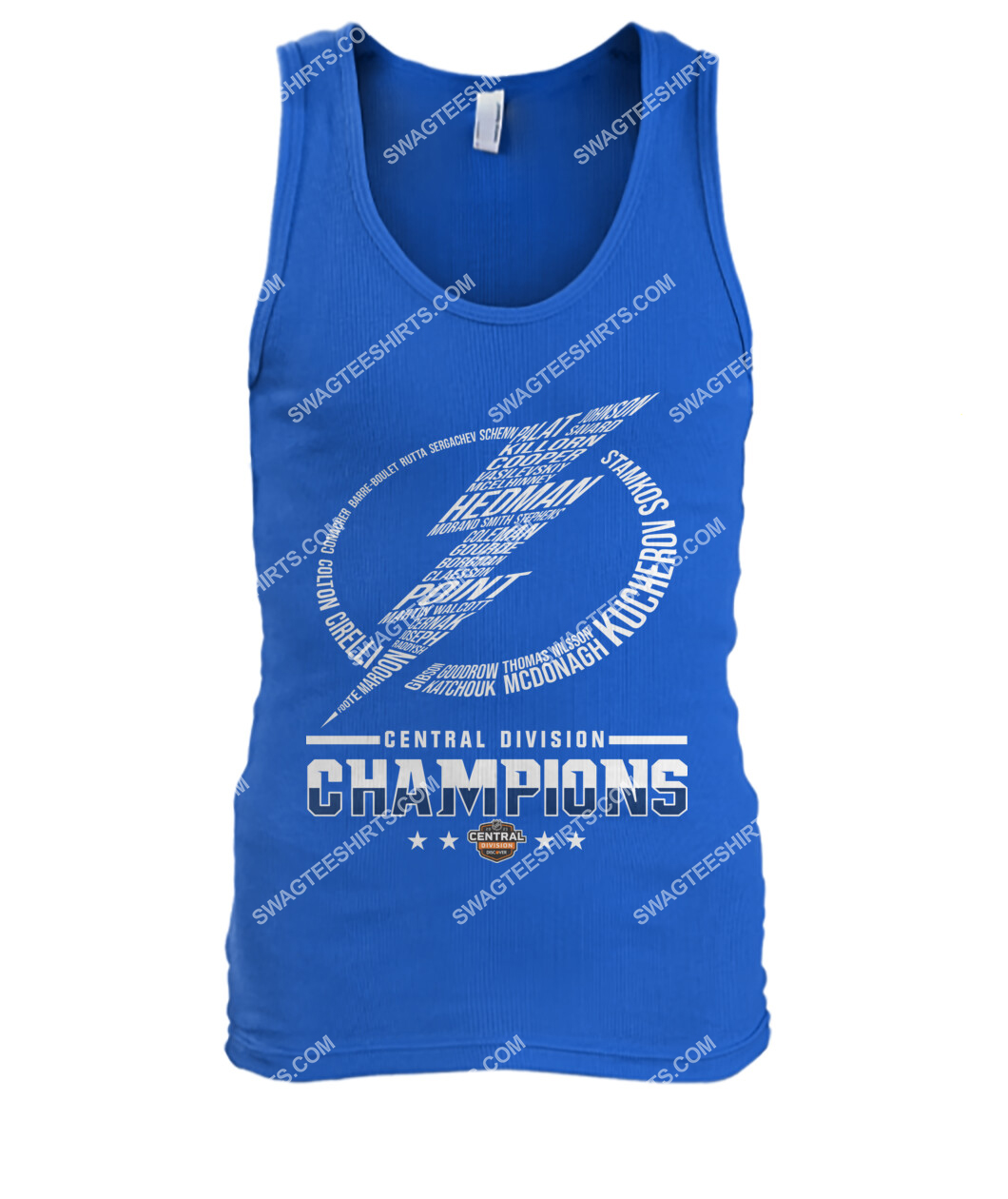 2021 central division champions tampa bay lightning tank top 1