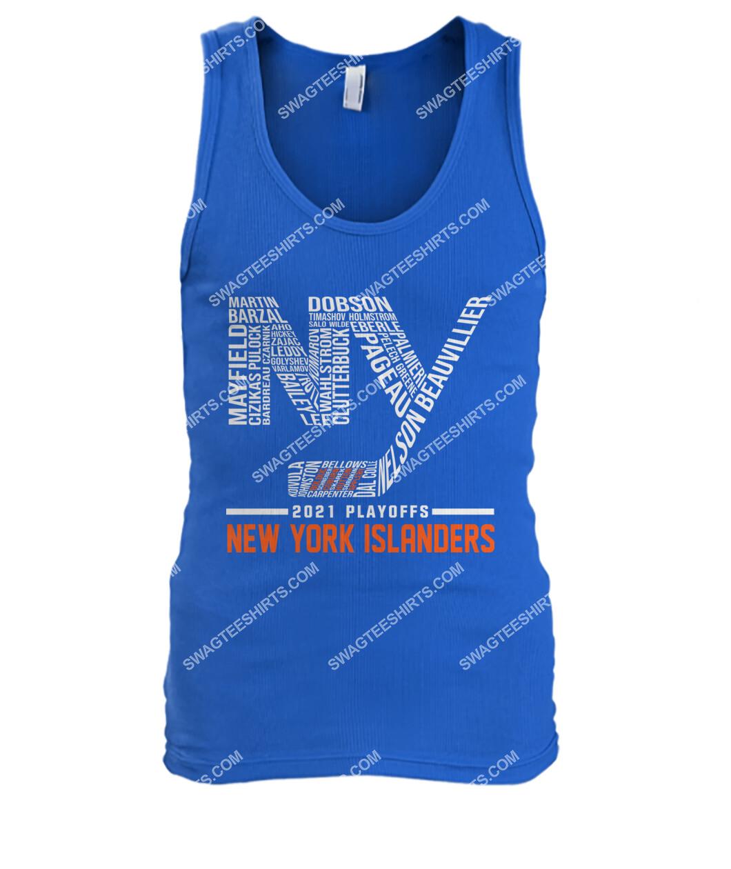 2021 playoffs new york islanders national hockey league tank top 1
