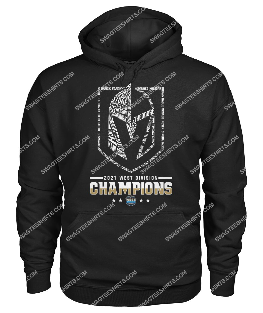 2021 west division champions vegas golden knights hoodie 1