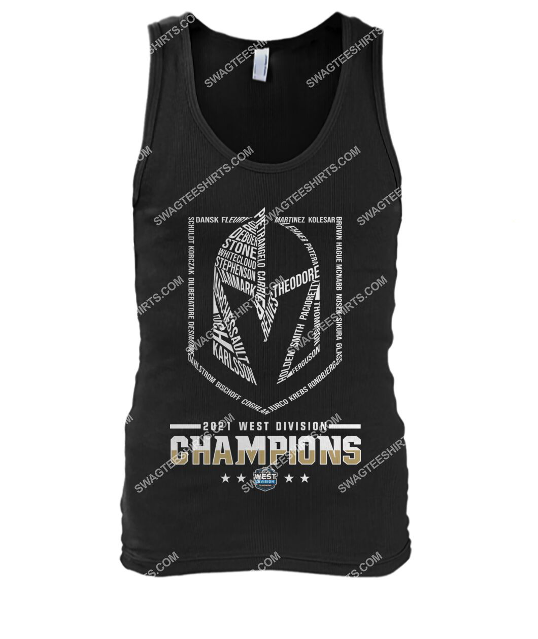 2021 west division champions vegas golden knights tank top 1
