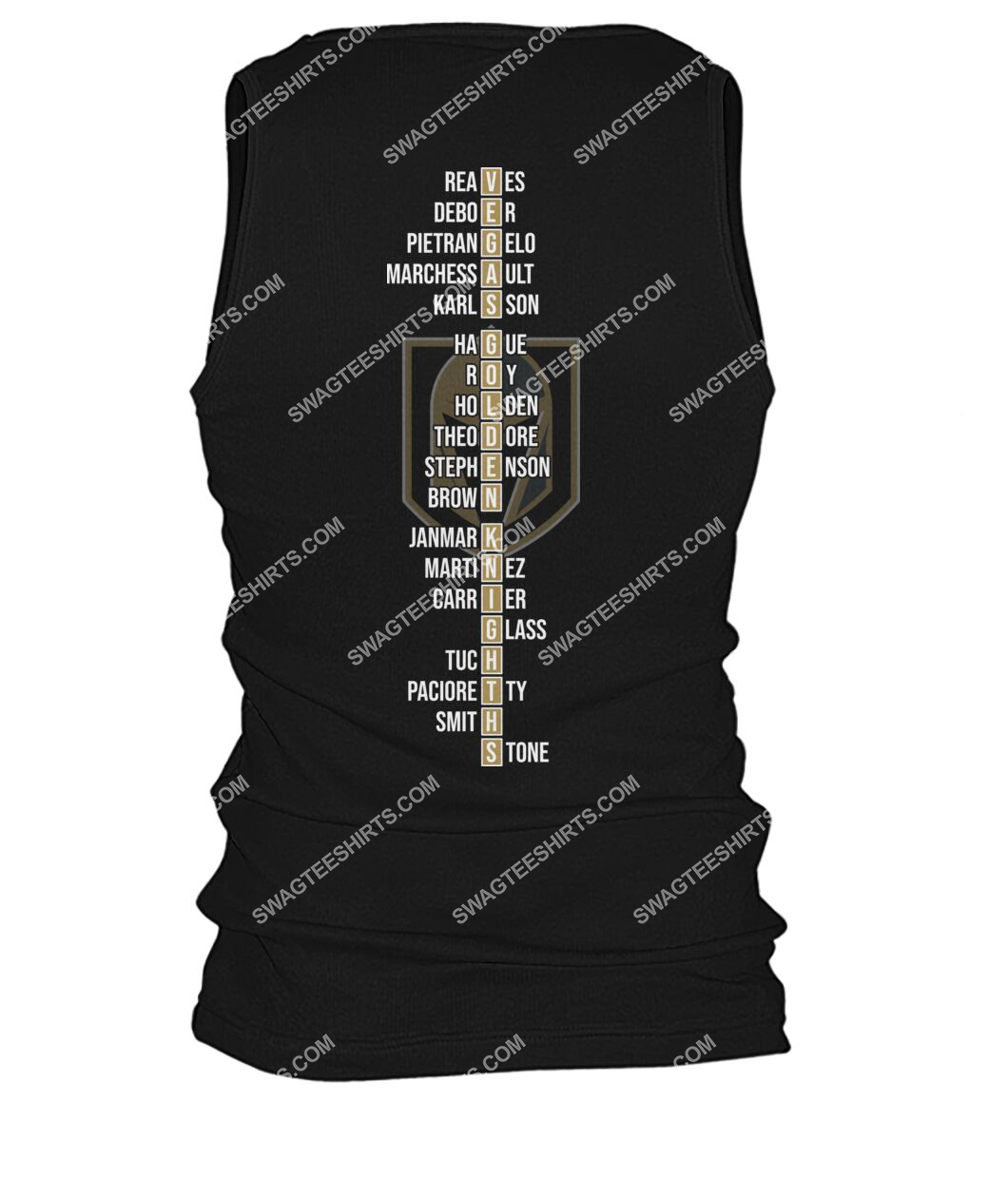 2021 west division champions vegas golden knights tank top - back 1