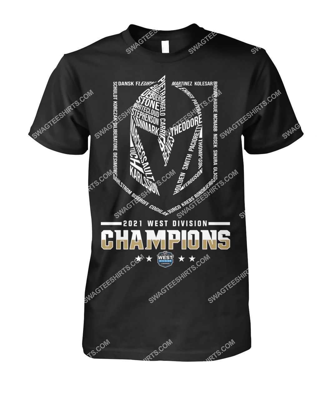 2021 west division champions vegas golden knights tshirt 1