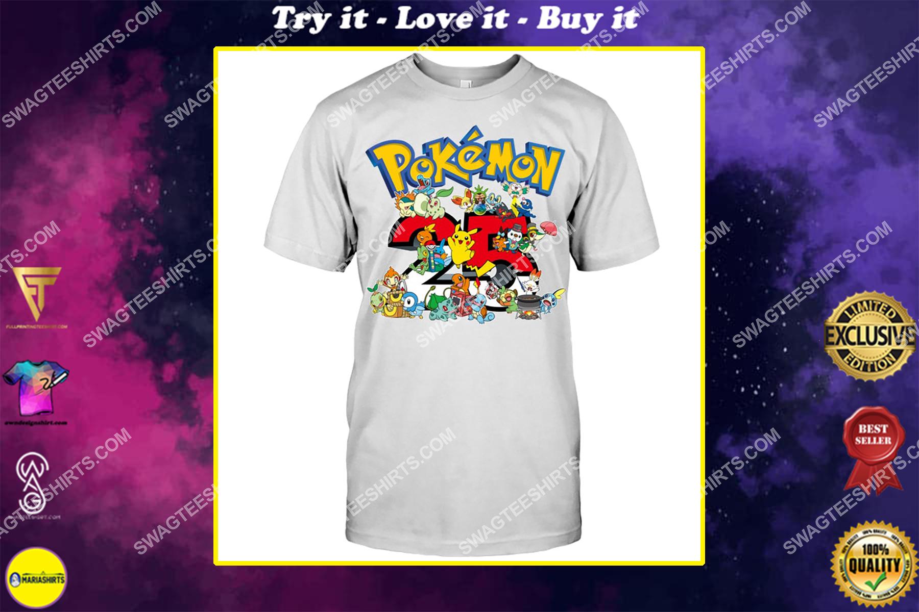 25th anniversary pokemon lover shirt