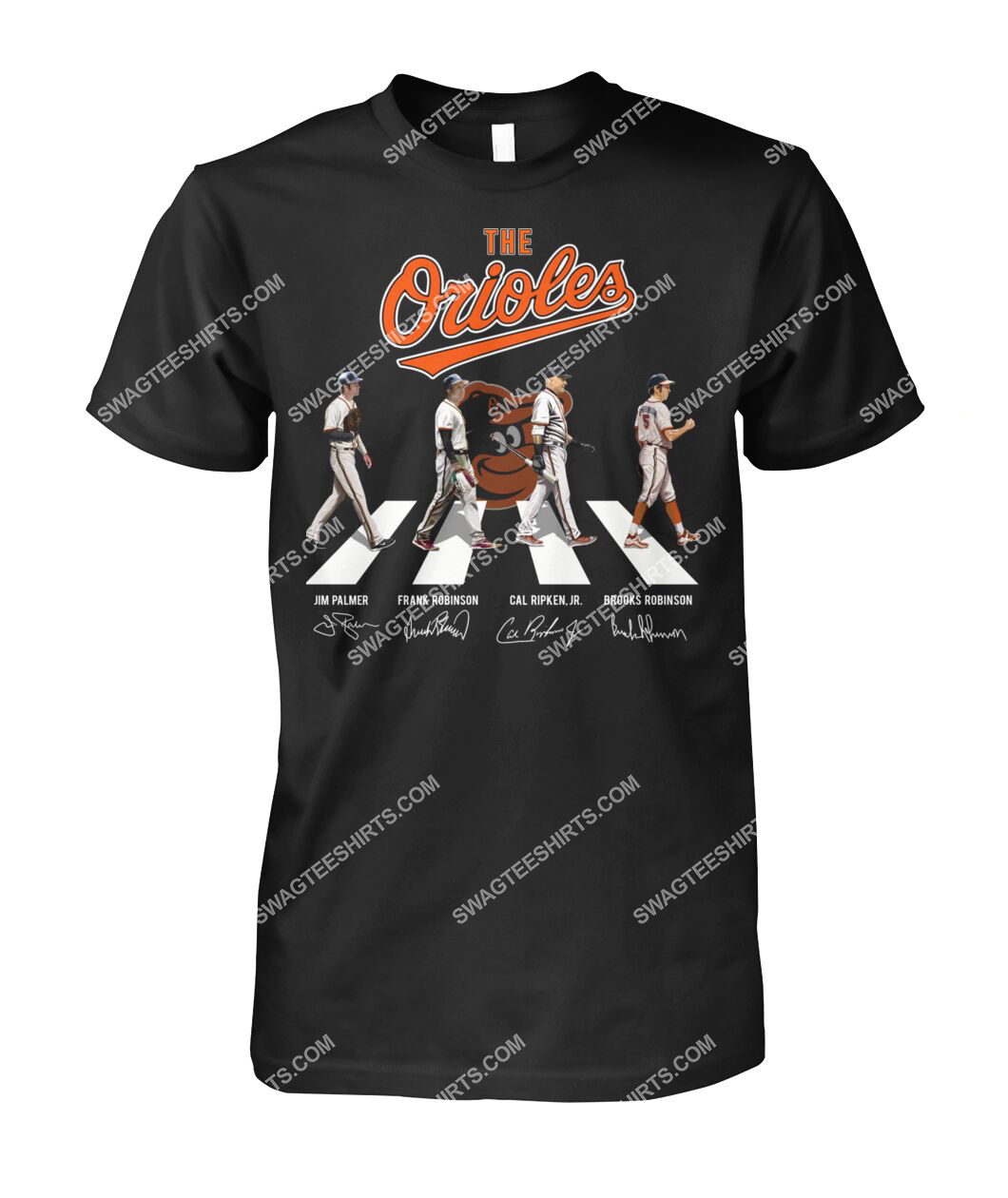 abbey road the baltimore orioles signatures tshirt 1
