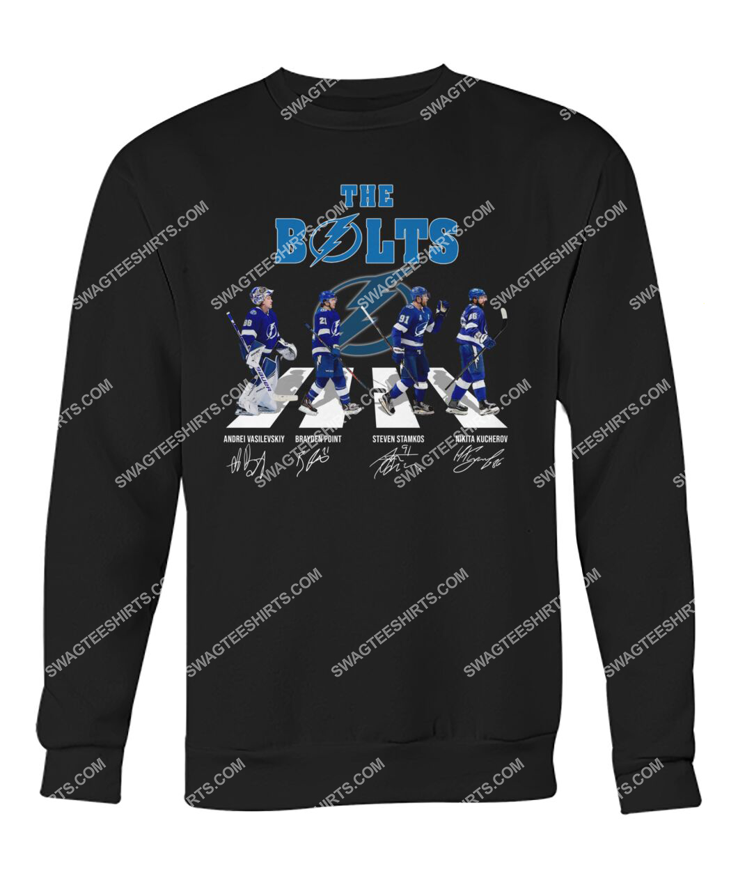 abbey road the bolts tampa bay lightning signatures sweatshirt 1
